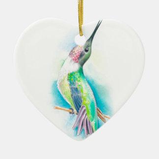 Ornamento De Cerâmica Canto do colibri
