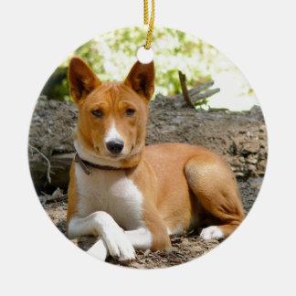 Ornamento De Cerâmica Cão de Basenji