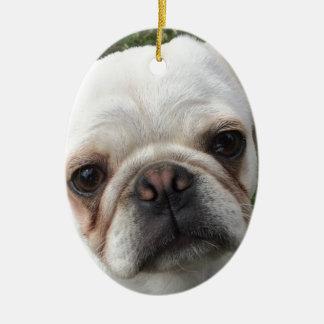 Ornamento De Cerâmica Cão do Pug