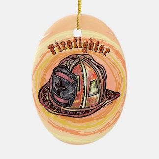 Ornamento De Cerâmica Capacete do sapador-bombeiro