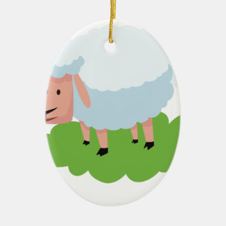 Ornamento De Cerâmica carneiros brancos e shaun os carneiros