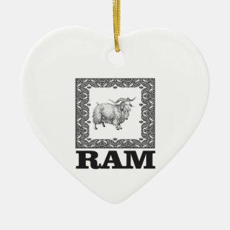 Ornamento De Cerâmica carneiros velhos quadro