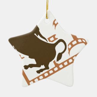 Ornamento De Cerâmica Carretel de filme Bucking de Bull
