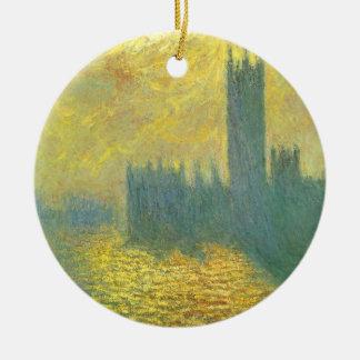 Ornamento De Cerâmica Casas do parlamento, céu tormentoso por Claude