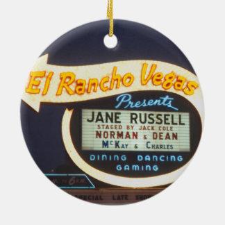 Ornamento De Cerâmica Casino 1959 de Las Vegas do sinal de néon do EL