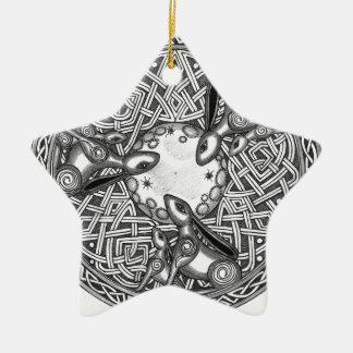 Ornamento De Cerâmica Céltico, lebre de observação da lua