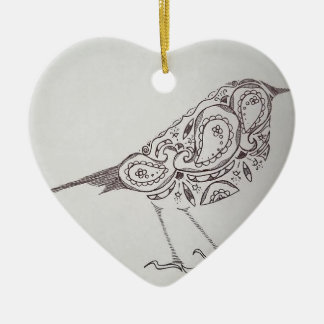 Ornamento De Cerâmica Chickadee
