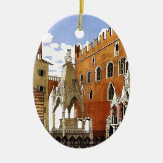 Ornamento De Cerâmica Cidade de Verona em Italia