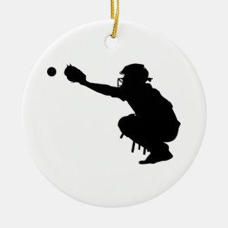 Ornamento De Cerâmica Coletor do basebol