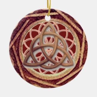 Ornamento De Cerâmica Coletor ideal Triquetra
