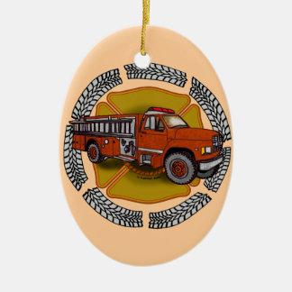 Ornamento De Cerâmica Como eu rolo o Firetruck