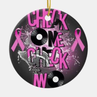 Ornamento De Cerâmica Consciência do cancro da mama