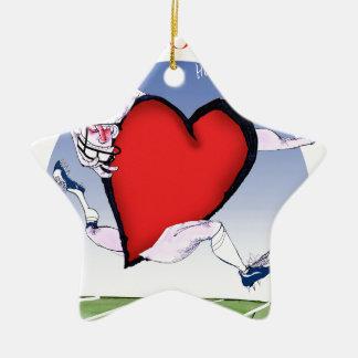 Ornamento De Cerâmica coração principal de Wisconsin, fernandes tony