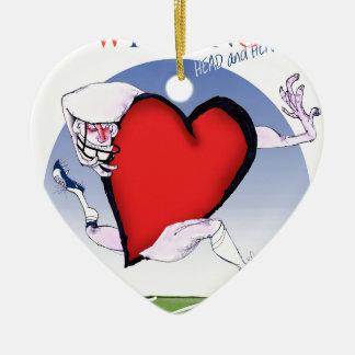 Ornamento De Cerâmica coração principal de wyoming, fernandes tony