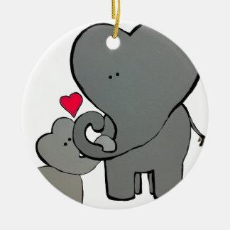 Ornamento De Cerâmica Corações do elefante - um amor de Unforgetable