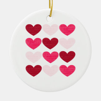 Ornamento De Cerâmica Corações dos namorados