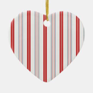 Ornamento De Cerâmica Cores patrióticas dos EUA em listras verticais