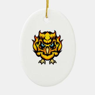 Ornamento De Cerâmica Coruja do fogo
