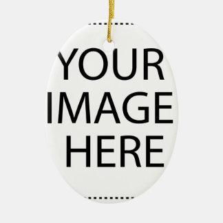 Ornamento De Cerâmica Costume personalizado seus próprios foto & texto