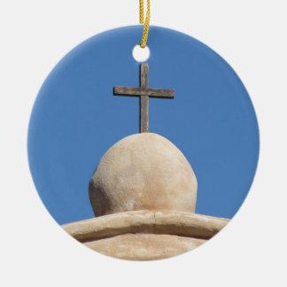 Ornamento De Cerâmica Cruz na igreja da missão