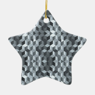 Ornamento De Cerâmica Cubos cinzentos, formas geométricas, design