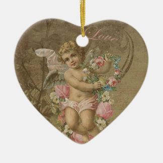 Ornamento De Cerâmica Cupido - vintage