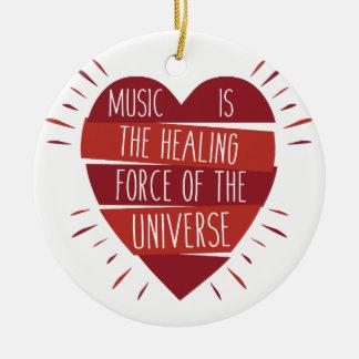 Ornamento De Cerâmica Cura da música