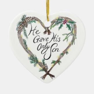 Ornamento De Cerâmica Decoração cristã da árvore de Natal