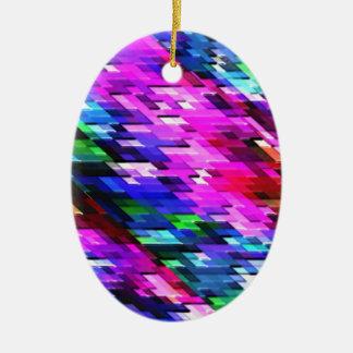 Ornamento De Cerâmica Decoração gráfica colorida do espectro dos