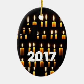 Ornamento De Cerâmica Decorações da vela de Nameste 2017 NEWYEAR FELIZES