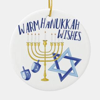Ornamento De Cerâmica Desejos de Hanukkah