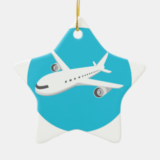 Ornamento De Cerâmica Desenhos animados do avião