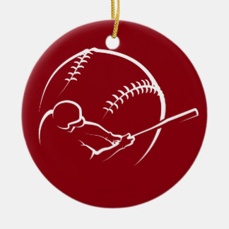 Ornamento De Cerâmica Design da massa do basebol