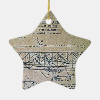 Ornamento De Cerâmica Design da patente dos irmãos de Wright