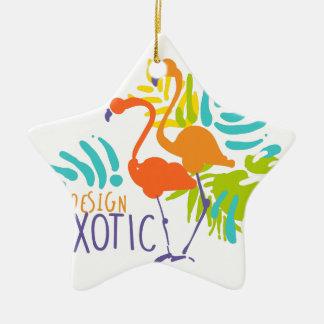 Ornamento De Cerâmica Design exótico do logotipo com pássaros do