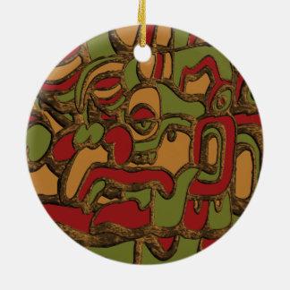 Ornamento De Cerâmica Design maia dos Hieroglyphs