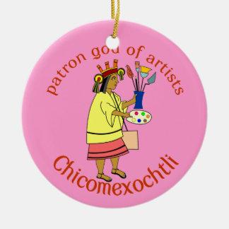Ornamento De Cerâmica Deus do consumidor do pintor de Chicomexochtli
