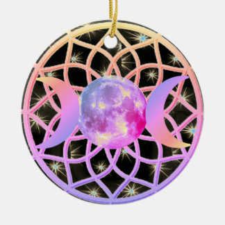 Ornamento De Cerâmica Deusa ideal triplicar-se do coletor