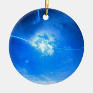 Ornamento De Cerâmica Eclipse para sempre na árvore de Natal