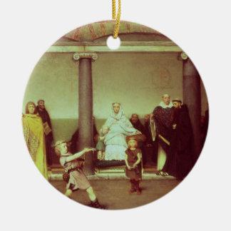 Ornamento De Cerâmica Educação de Alma-Tadema | das crianças de