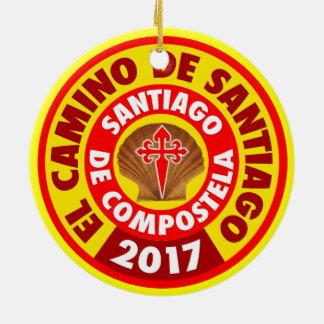 Ornamento De Cerâmica EL Camino De Santiago 2017