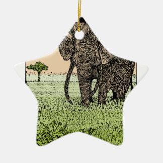 Ornamento De Cerâmica Elefante africano