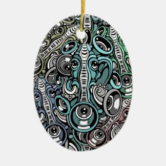 Ornamento De Cerâmica elefante da música