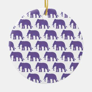 Ornamento De Cerâmica Elefantes roxos
