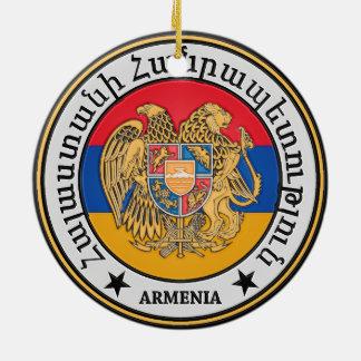 Ornamento De Cerâmica Emblema redondo de Arménia