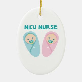 Ornamento De Cerâmica Enfermeira de NICU