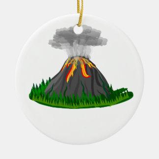 Ornamento De Cerâmica erupção e fogo do vulcão