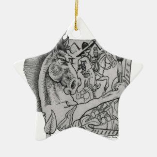 Ornamento De Cerâmica Escondido Wallow Ringo o cavalo