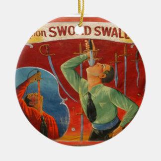 Ornamento De Cerâmica Espada Swallower do campeão