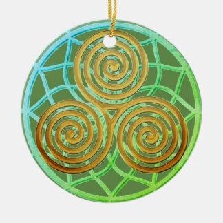 Ornamento De Cerâmica Espiral ideal triplicar-se do coletor
